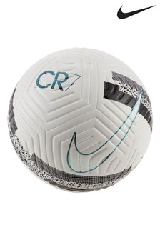 Nike White CR7 Strike Football