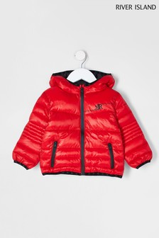 River Island Red BTS Padded Jacket