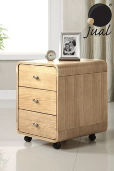 Helsinki 3 Drawer Pedestal Oak by Jual