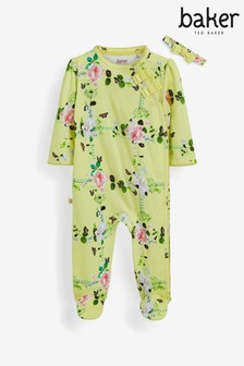 Baker by Ted Baker Yellow Floral Sleepsuit