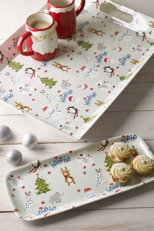 Set of 2 Festive Trays