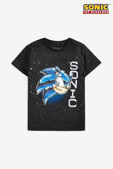 Black Sonic The Hedgehog T-Shirt (3-16yrs)