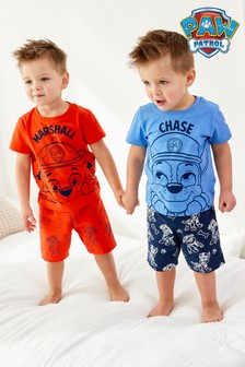 Red/Blue Paw Patrol 2 Pack Short Pyjamas (12mths-8yrs)