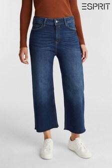 Esprit Blue Cropped Culotte Pants Denim