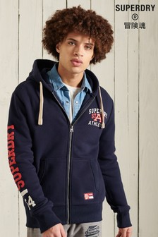 Superdry Track And Field Graphic Zip Through Hoodie