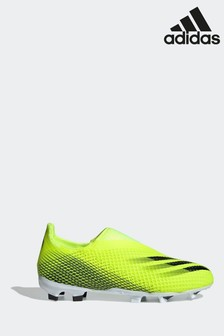 adidas Yellow Kids X P3 Laceless Firm Ground Football Boots