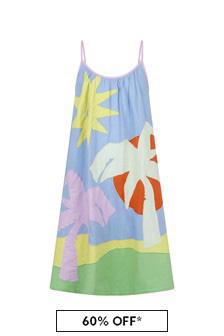 Stella McCartney Kids Girls Multicoloured Cotton Dress