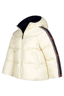 Baby Girls White Trim Padded Jacket