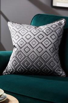 Zion Diamond Geo Jacquard Cushion