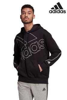 adidas Badge of Sport Large Logo Pullover Hoodie