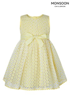 Monsoon Yellow Baby Diana Dress