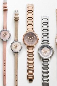 Rose Gold Tone Ombre Dial Sparkle Bracelet Watch