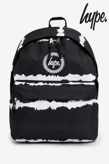 Hype. Black Stripe Tie Dye Backpack