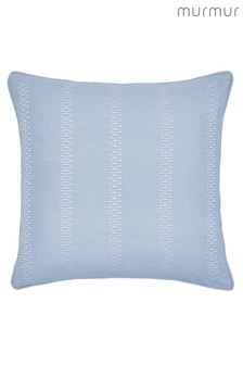 Murmur Birch Embroidered Linen Rich Cushion