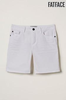 FatFace White Denim Shorts