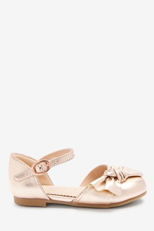 Rose Gold Bow Shoes