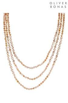 Oliver Bonas Frio Facet Beaded Multi Strand Layered Necklace