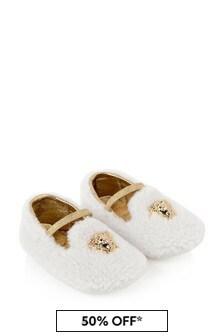 Baby Ivory Fleece Pre-Walker Shoes
