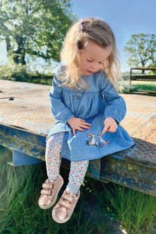 Denim Bunny Dress And Leggings Set (3mths-7yrs)