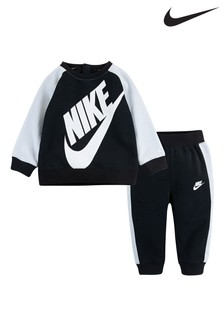 Nike Infant Black Crew And Joggers Set