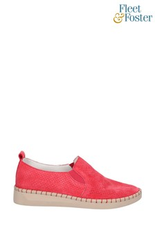 Fleet & Foster Red Tulip Slip On Shoes