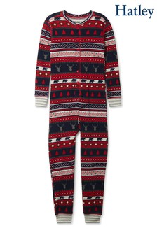 Hatley Fairisle Pattern Stags One Piece