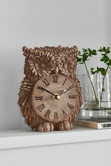 Owl Mantle Clock