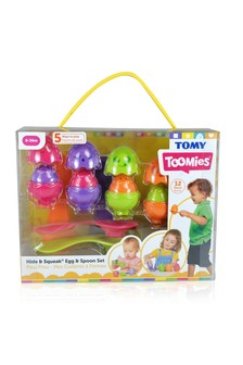 TOMY Toomies Hide & Squeak Eggs & Spoon Set