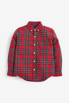 Red Tartan Check Long Sleeve Shirt (3-16yrs)