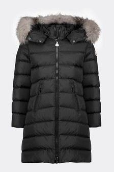 Girls Black Down Padded Abelle Coat