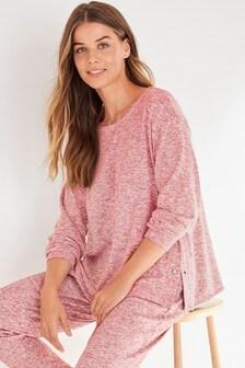 Rose Pink Maternity/Nursing Popper Side Sweat Top