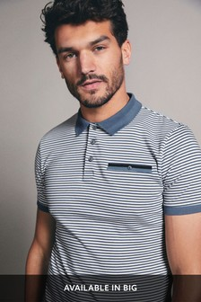 Blue Smart Stripe Polo