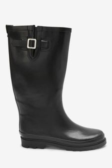 Black Tall Wellies