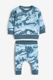 Blue Camo Sweatshirt And Joggers Set (0mths-2yrs)