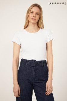 Warehouse White Rib Lettuce T-Shirt