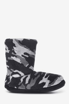 Grey Camo Slipper Boots (Older)