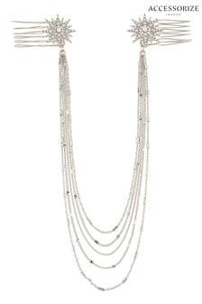 Accessorize Silver Tone Starburst Vine Chain