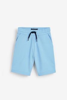 Pale Blue Jersey Shorts (3-16yrs)