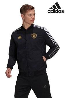 adidas Black Manchester United Bomber Jacket