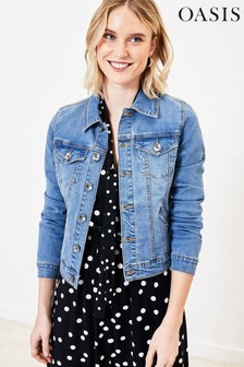 Oasis Blue Mid Wash Denim Jacket