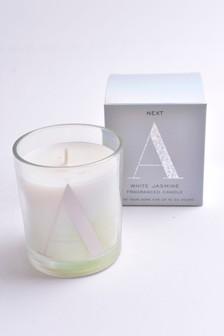 Alphabet Iridescent Candle