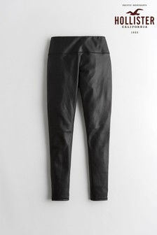 Hollister Black Faux Leather Leggings