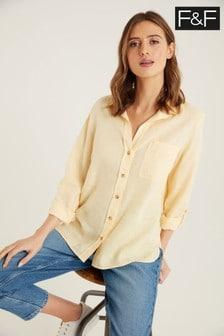 F&F Buttermilk Linen Shirt