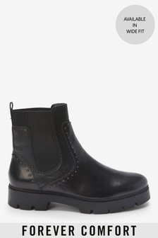 Black Forever Comfort® Studded Chunky Chelsea Boots