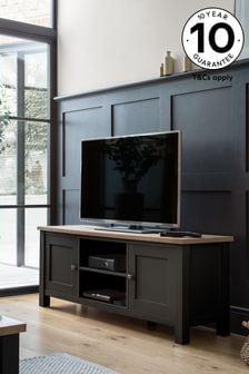 Black Malvern Black  Wide TV Stand