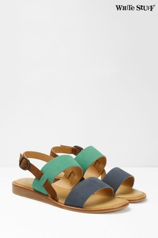 White Stuff Blue Elodie Mini Wedge Sandals