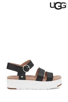 UGG Black Leedah Flatform Sandals