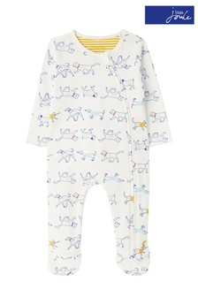 Joules White Ziggy Sleepsuit