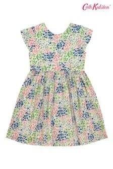 Cath Kidston Cream Tiny Painted Bluebell Ayda Dress