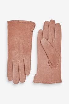 Blush Suede Gloves